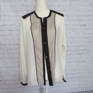 Helmut Lang Blouse Long Sleeves Conceled Buttons